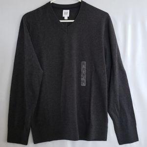 Grey GAP Men's V-Neck Sweater - Small
